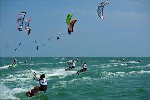 Kiteboard versenyzés